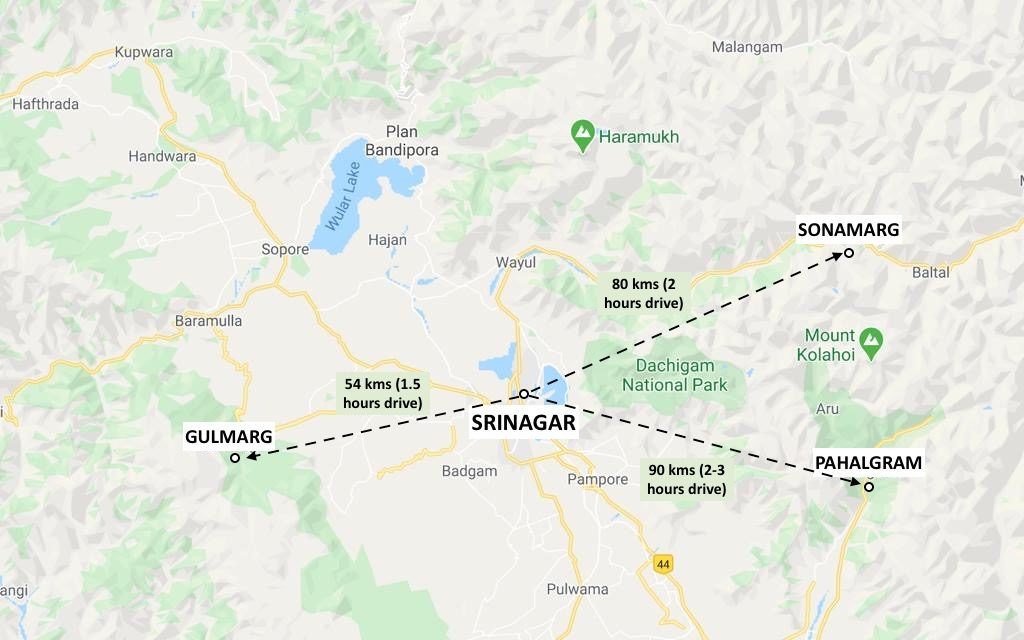 Kashmir 3 Days Itinerary