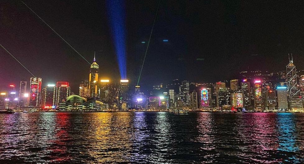 Symphony of Light from TST Waterfront - Hong Kong