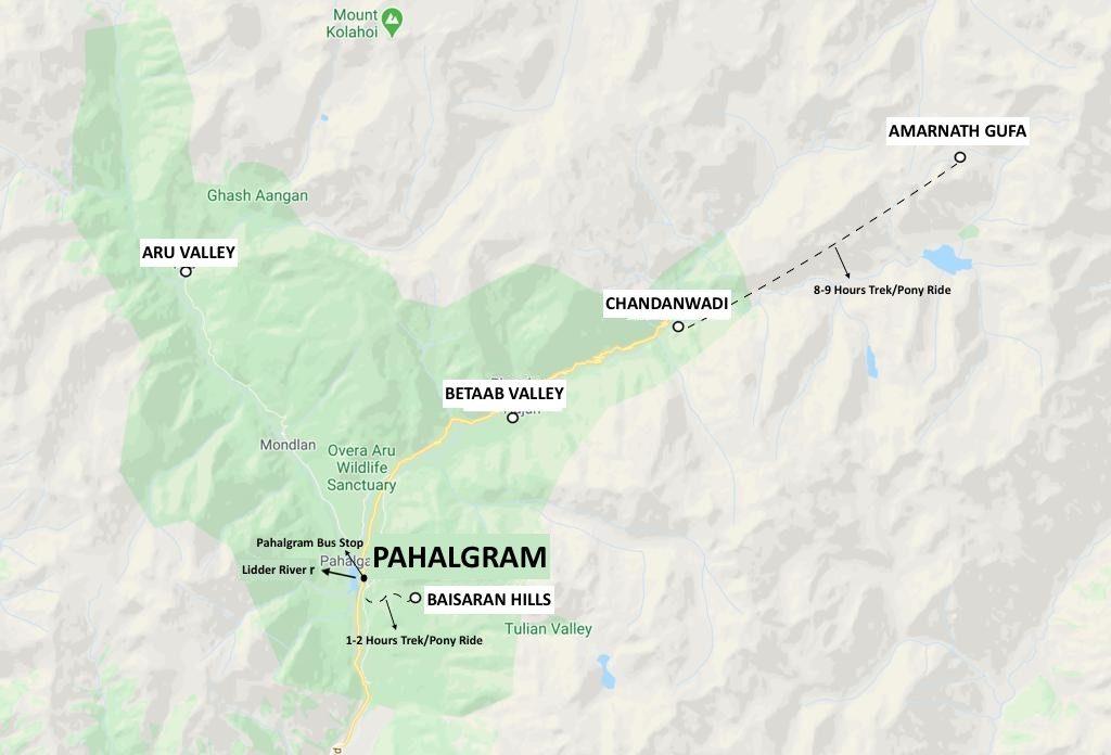 Pahalgram Map