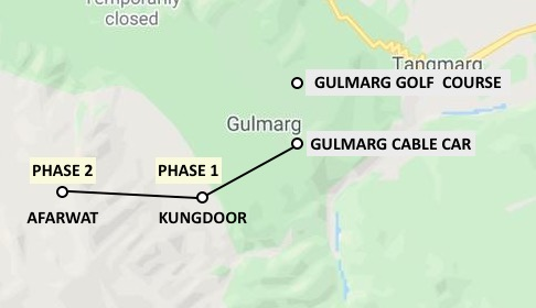 Gulmarg Cable Car Map