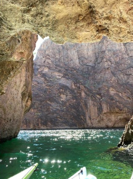 Emerald Cave Kayak day trips from Las Vegas