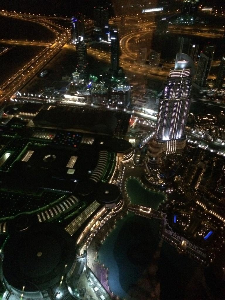at the top - Burj Khalifa