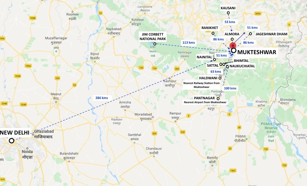 Places to visit nearby Mukteshwar