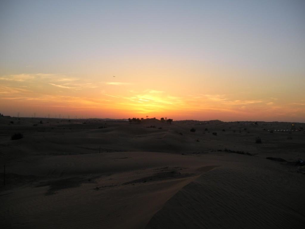 Sunset at Desert Safari - Dubai