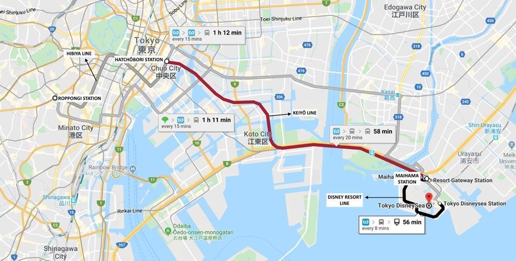 How to reach Tokyo Disney Sea