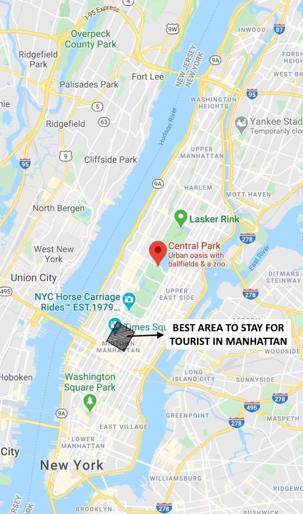 Best Area to Stay in New York (Manhattan) - For Tourist